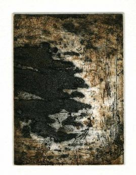 AUTUMN 2, multi-plate etching, BFK Rives 280gsm, 14 x 10cm, edition 6, 2007