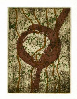 AUTUMN 3, multi-plate etching, BFK Rives 280gsm, 14 x 10cm, edition 6, 2007
