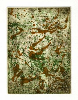 AUTUMN 4, multi-plate etching, BFK Rives 280gsm, 14 x 10cm, edition 6, 2007
