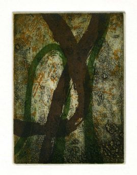 AUTUMN 5, multi-plate etching, BFK Rives 280gsm, 14 x 10cm, edition 6, 2007