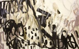 HIDDEN PLEASURES, oil and polychromos pigments on canvas, 110 x 180cm, 2015