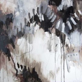 PERCHANCE, oil and polychromos pigments on canvas, 120 x 120cm, 2015