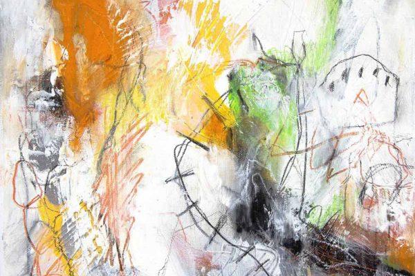 PILLARS OF SMOKE, oil and polychromos pigments on birch panel, 30 x 30cm, 2015
